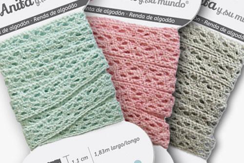 lazos de algodón scrapbooking Anita y su mundo