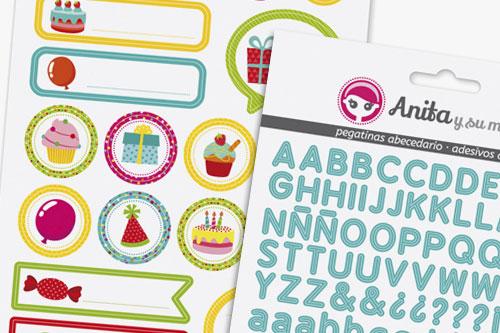 stickers scrapbooking de Anita y su mudno