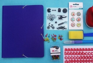 carpeta modificada scrapbooking