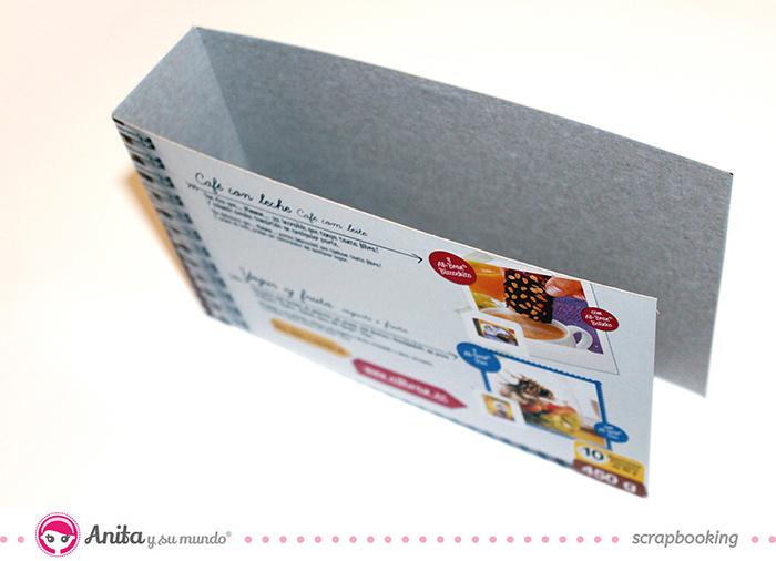 Mini álbum hecho con materiales de scrapbooking - Paso 1 bis