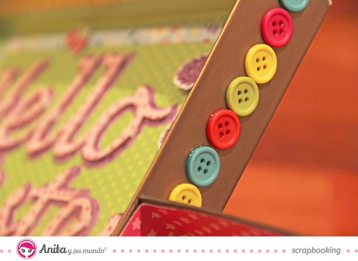 Tutorial - Cuadro hecho con papel scrapbooking de Anita y su mundo 7