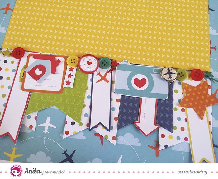 Adornos papel scrapbook del layout