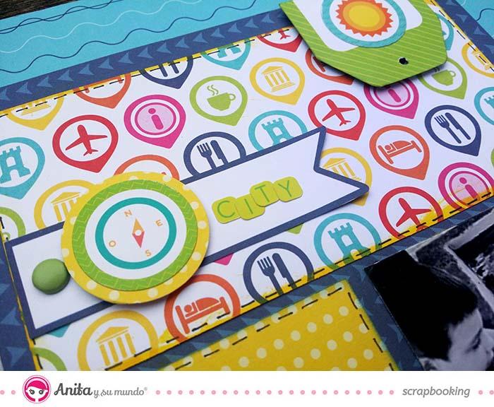 Tutorial de scrapbooking: layout hecho con materiales de Anita y su mundo 2
