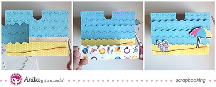 idea scrap: decorar cajones con papel scrapbook - Paso 5