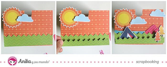 idea scrap: decorar cajones con papel scrapbook - Paso 6