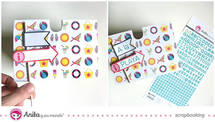idea scrap: decorar cajones con papel scrapbook - Paso 7