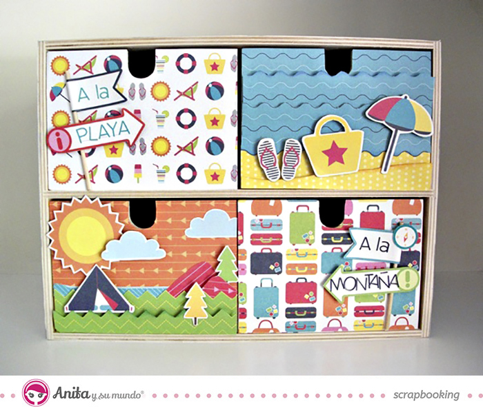 idea scrap: decorar cajones con papel scrapbook