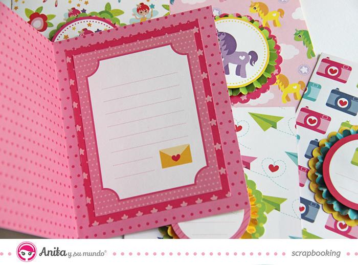Tarjeta scrapbook para hacer con niños 4