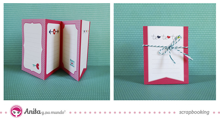 Mini álbum scrapbook - paso 5