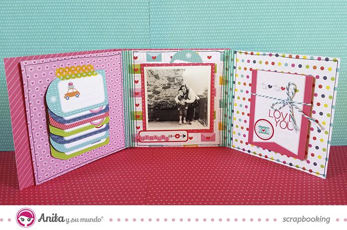 Etiquetas y tarjetas c mo utilizarlas en un mini lbum - Album para guardar fotos ...