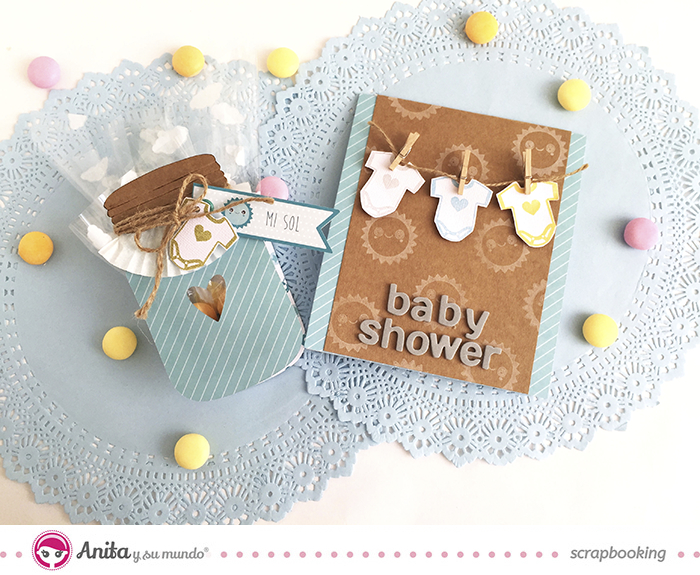 Invitacion y regalo para baby shower