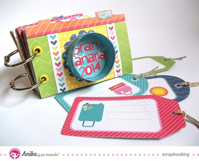 Tutorial Mini álbum hecho con papel scrapbook y rollos de papel higiénico - paso 6