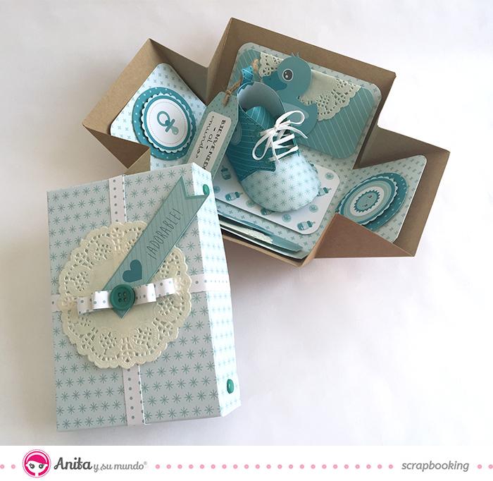 Tarjeta felicitaci n bautizo o nacimiento c mo hacerla for Cajas personalizadas con fotos