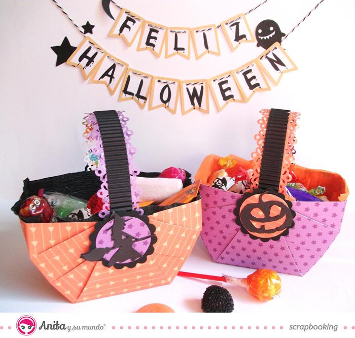 Diy cesta de caramelos para halloween for Decoracion de cestas