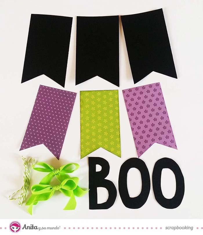 Decoración para Halloween con papel scrapbook - Paso 5