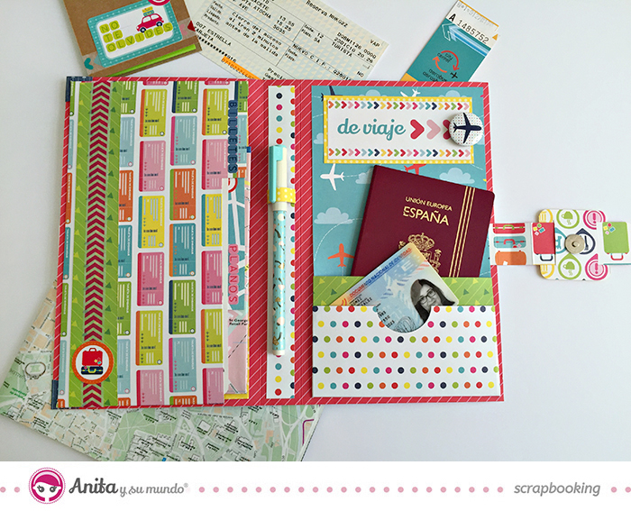 Tutorial: Portadocumentos de viaje hecho con papeles de scrapbooking