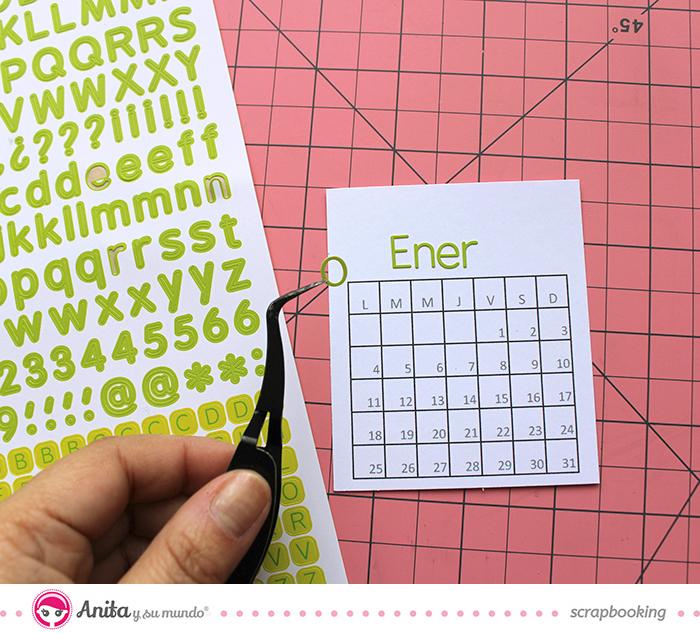 Cómo hacer un calendario con anillas