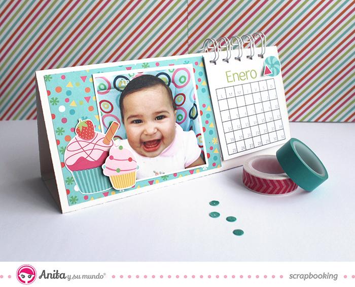 Anita y su mundo. Calendario con anillas paso a paso