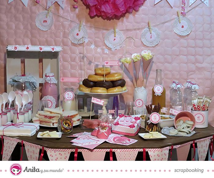 Cómo hacer un Candy bar para un baby shower