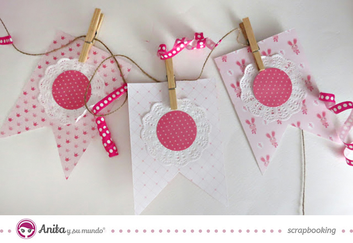 Candy bar banderolas hechas con papel scrap