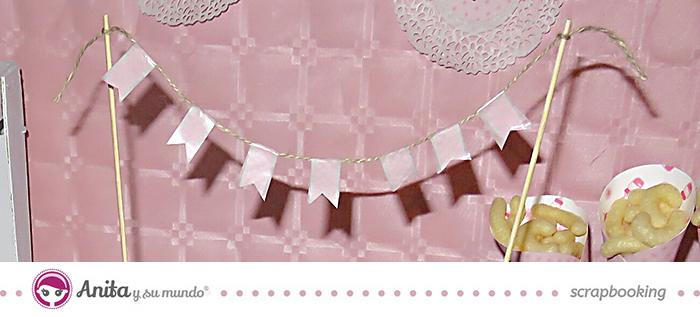 Mesa dulce para baby shower minicadenetas