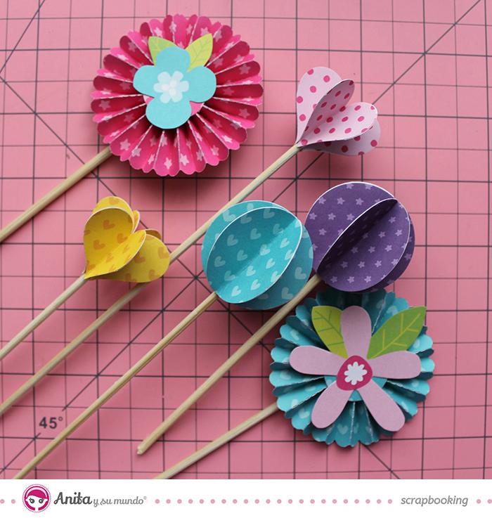 flores scrapbook - tutorial