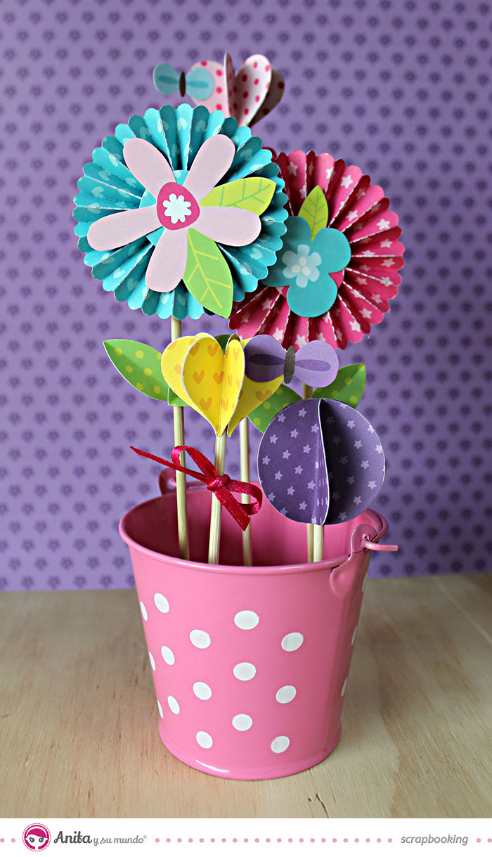 Flores de papel faciles