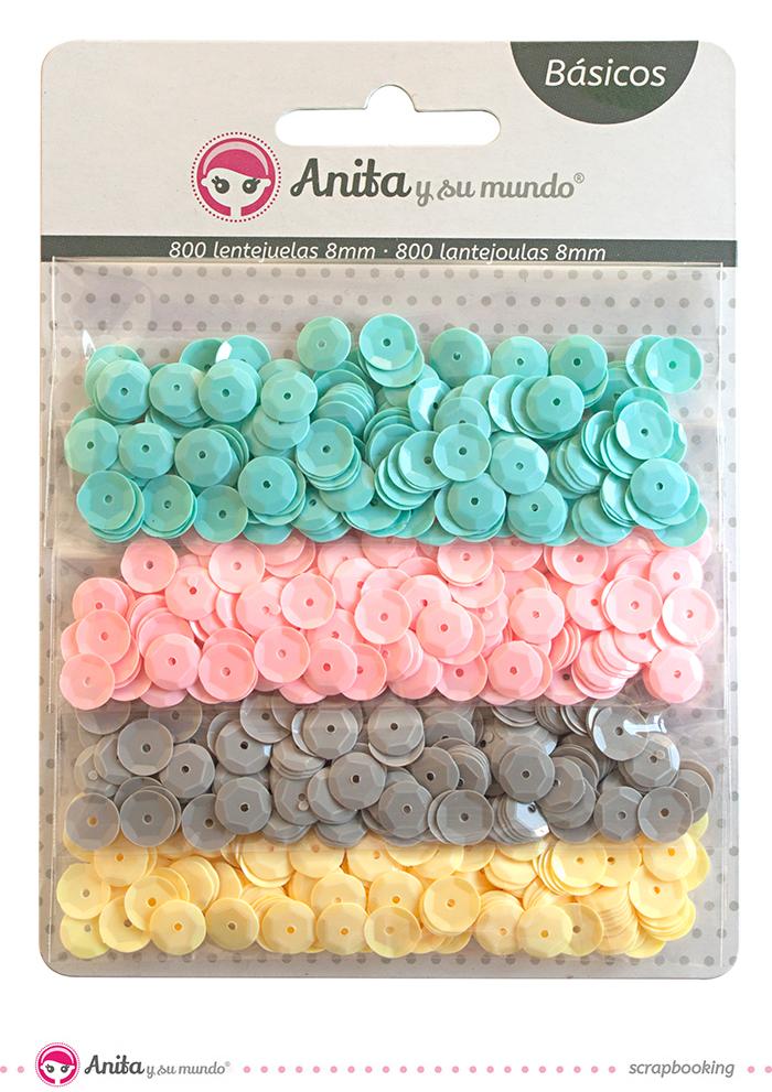 Lentejuelas manualidades colores pastel