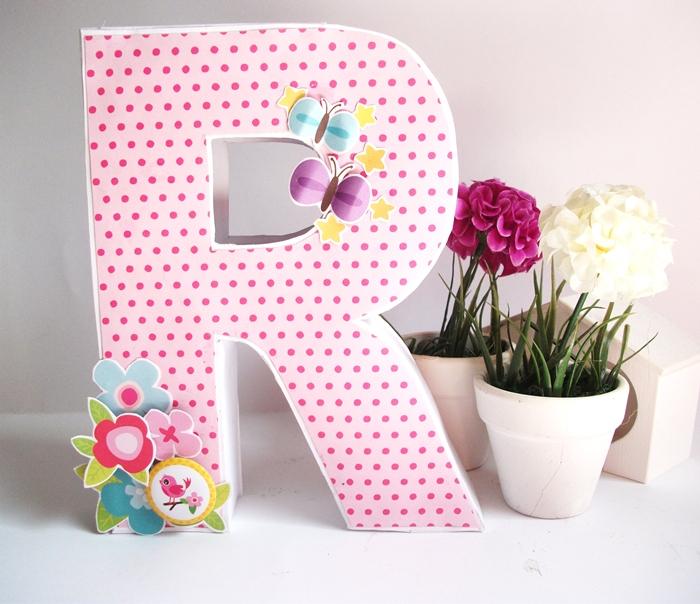 C mo hacer letras scrap decorativas de manera f cil - Letras de corcho decoradas ...