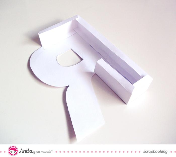 Tutorial para hacer y decorar una letra utilizando papel scrap - Paso 4.3