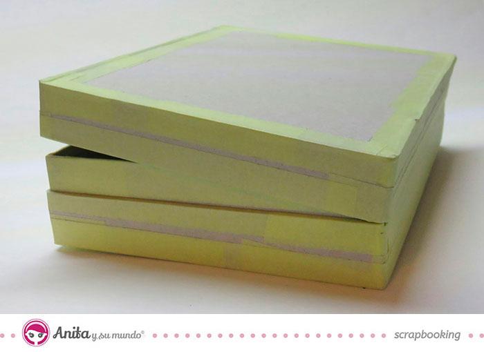 Estructura maleta scrapbook