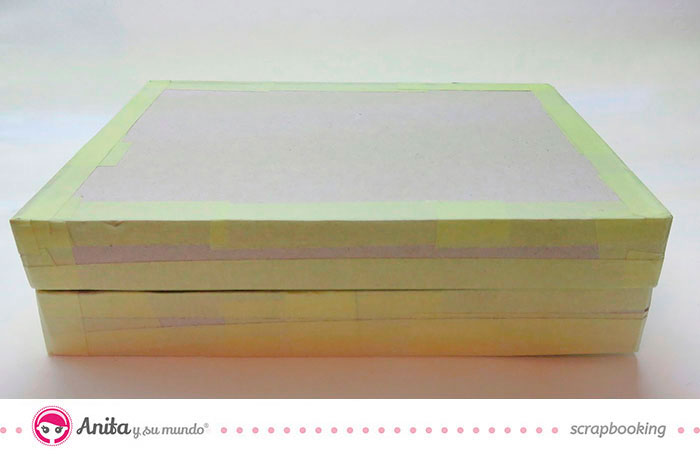 Maleta scrapbook tutorial - paso 2