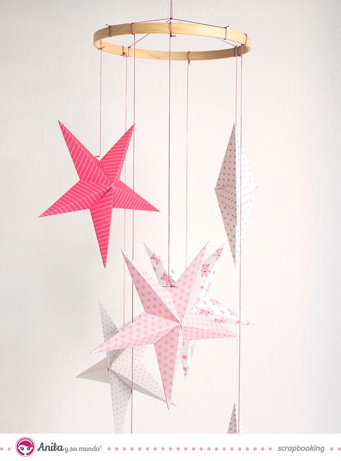 Cómo hacer un móvil para bebé con estrellas de papel