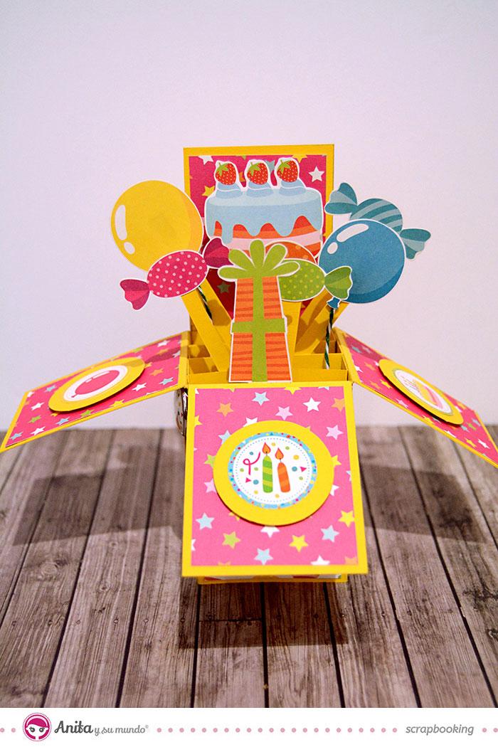 Tarjeta pop up o 3D de cumpleaños