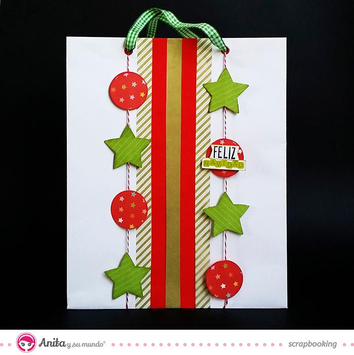 Scrap para niños decora una bolsa de papel con Anita y su mundo