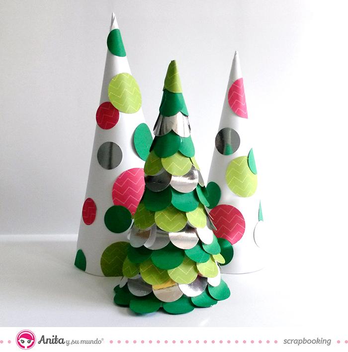 C mo hacer un centro de mesa navide o con papel scrap - Como hacer un centro de mesa navideno ...