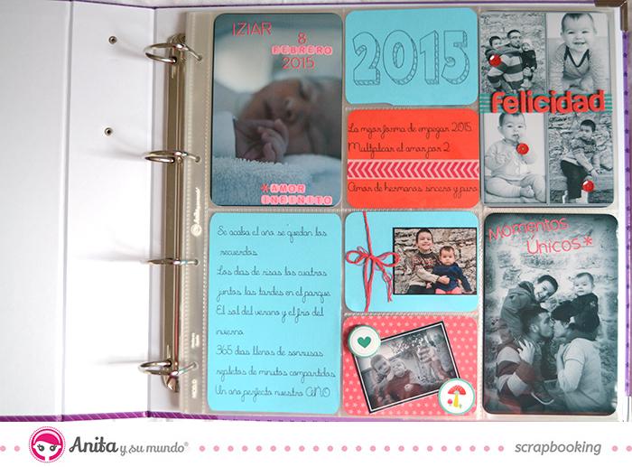 Página de álbum diario scrapbook de Anita y su mundo