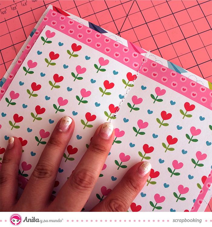 Álbum San Valentín Anita y su mundo. Paso 5