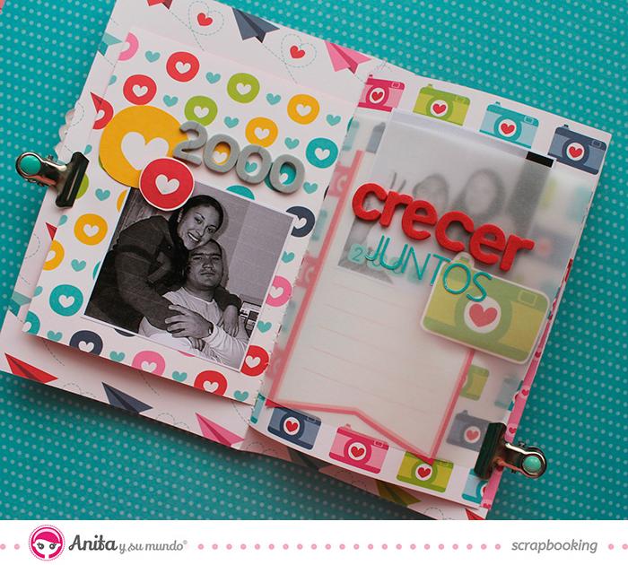 Anita y su mundo scrapbooking - Mini álbum San Valentín
