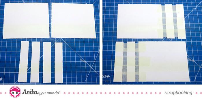 encuadernación con tornillos - paso 1