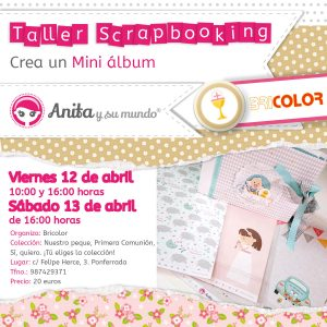 taller bricolor mini album scrapbooking