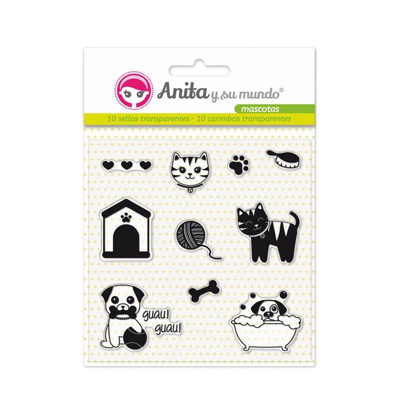 """Sellos de silicona de la colección """"mascotas"""" de Anita y su mundo"""