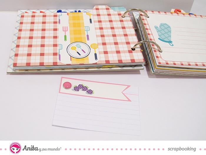 etiquetas scrapbook cocina Anita y su mundo