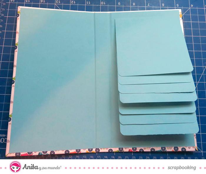 manualidades papel álbum cascada