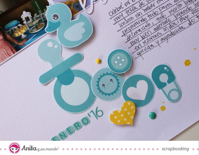 layout baby shower anita y su mundo scrapbooking