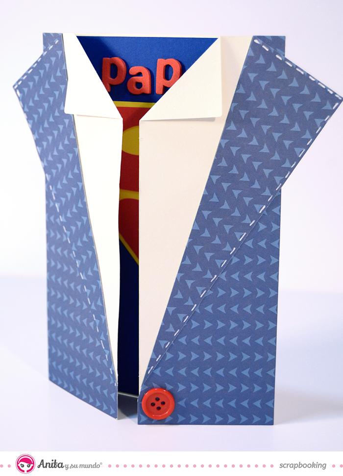 tarjeta camisa dia del padre superman