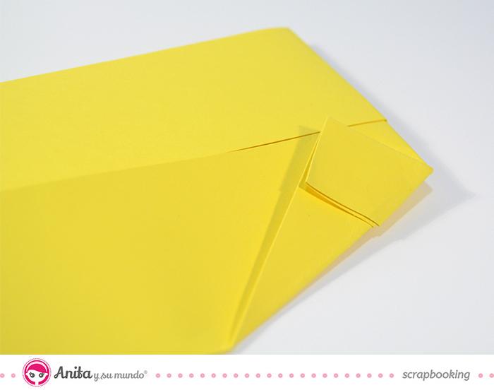 tutorial origami: tarjeta camisa paso 6