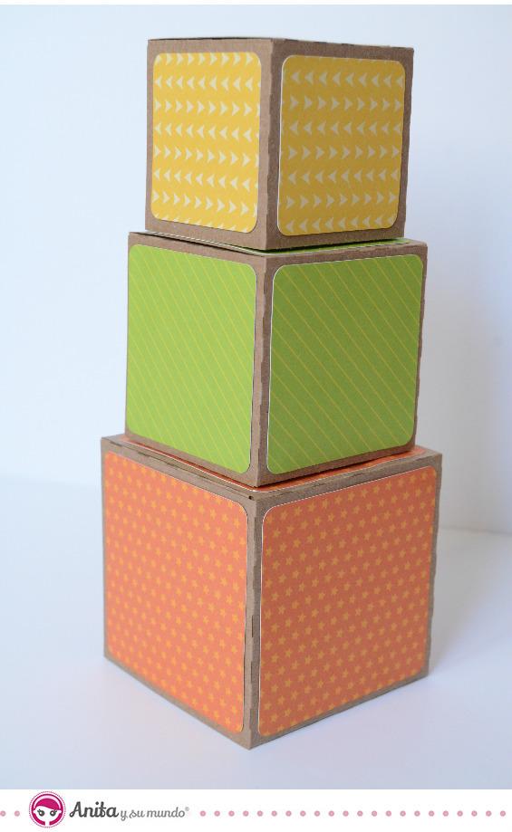 cómo hacer cubos con papel o cartulina 3
