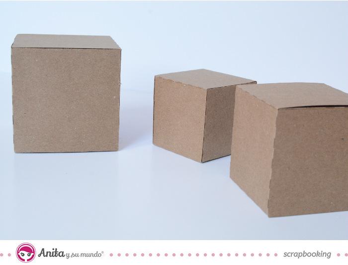 como hacer cubos con papel o cartulina