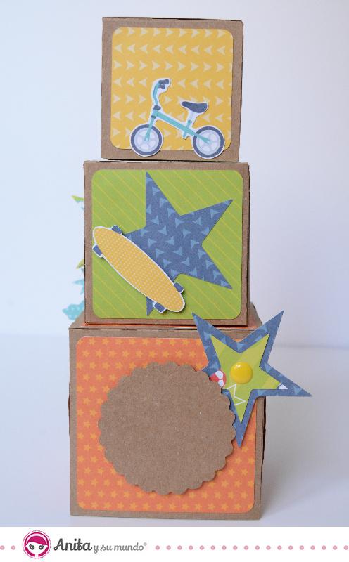 cubos apilables de papel co carton paso a paso